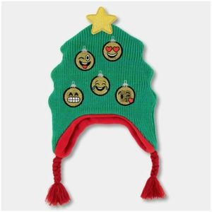 NWT Emoji Holiday Peruvian Winter Hat OSFM